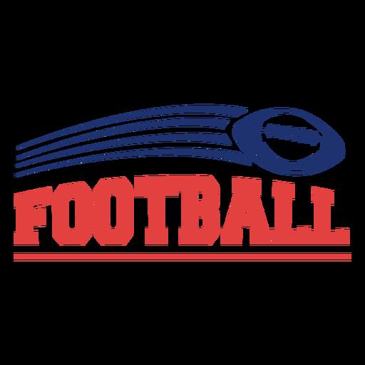 American football sport badge