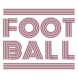 American football sport lettering