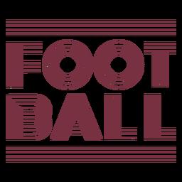 Letras de esporte de futebol americano