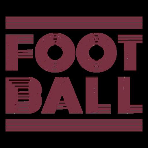 American football sport lettering