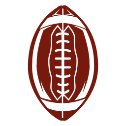 American football standing cut out