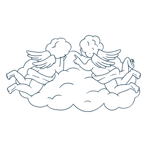 Baby Engel Wolkenschlag