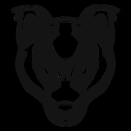 Badger head high contrast