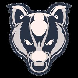 Logotipo da cabeça de texugo
