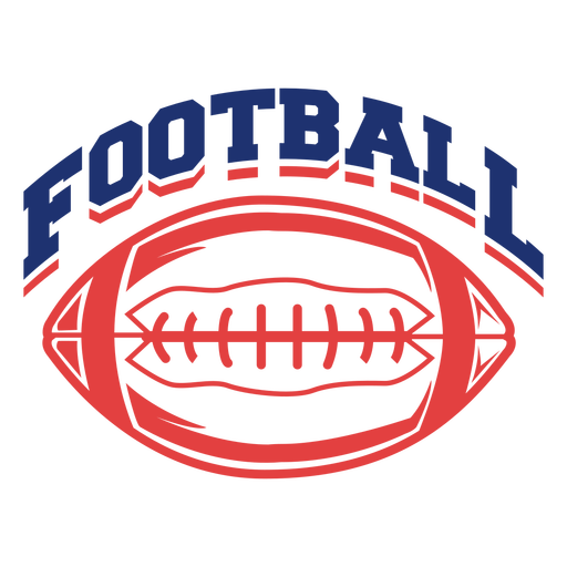 Ball american football badge