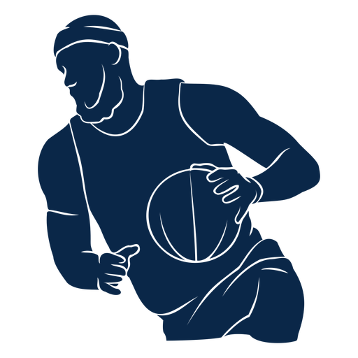 Basketball player athlete cut out