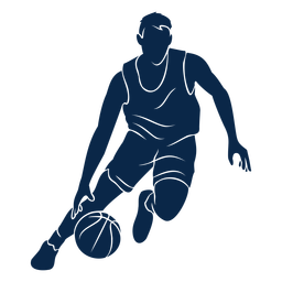 Basketball player dribble cut out