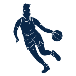 Basketball player playing cut out