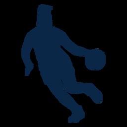 Jogador de basquete jogando cut out