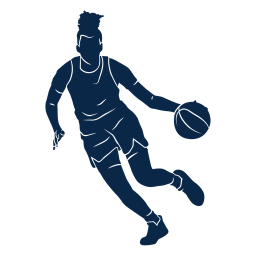 Basketball player playing cut out Transparent PNG
