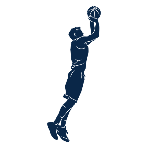 Basketball player shoot cut out