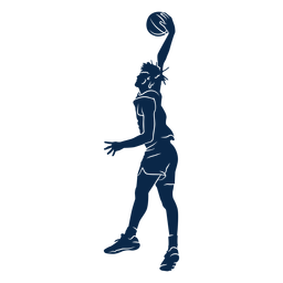 Basketball player slam dunk cut out