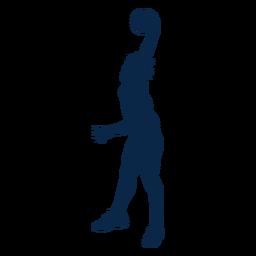 Jugador de baloncesto slam dunk cortado