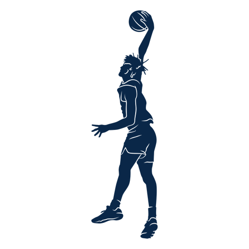 Basketball player slam dunk cut out Transparent PNG