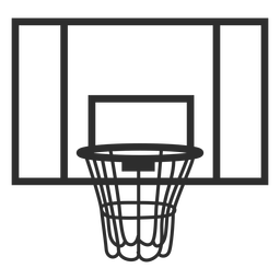 Basketball backboard stroke
