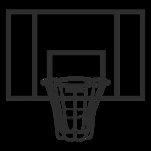 Basketball backboard stroke Transparent PNG
