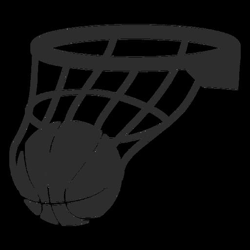 Corte de canasta de pelota de baloncesto