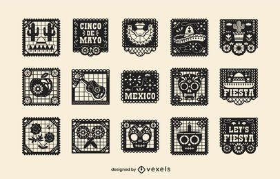 Cinco de Mayo papel picado set
