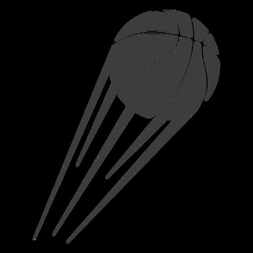 Pelota de baloncesto cortada