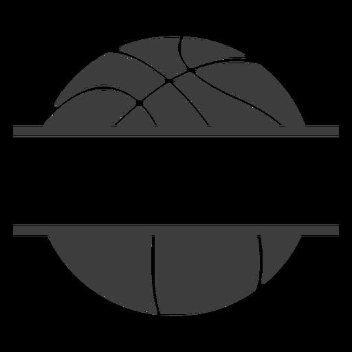 Etiqueta de pelota de baloncesto