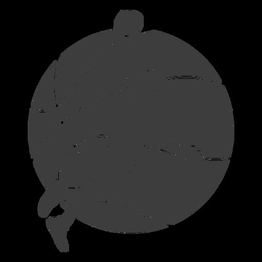 Basketball ball player cut out