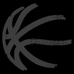 Basquete bola traço basquete