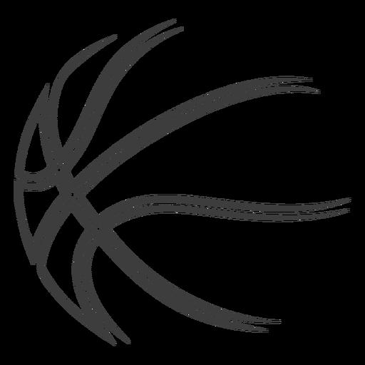 Basketball ball stroke basketball