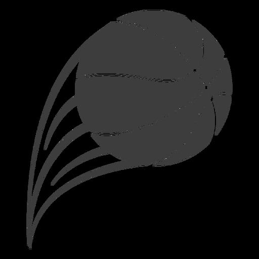 Basketball ball throw cut out