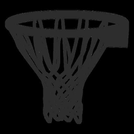 Basketball basket stroke basketball