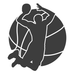 Basketball player ball cut out