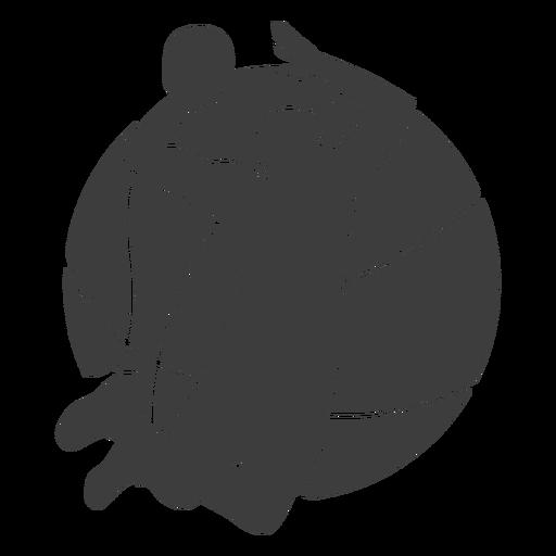 Pelota de jugador de baloncesto cortada