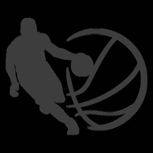 Jugador de baloncesto pelota silueta jugador de baloncesto Transparent PNG