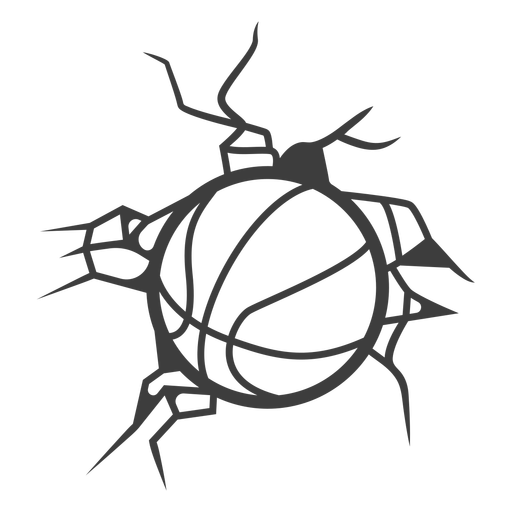 Basketball wall crush cut out Transparent PNG