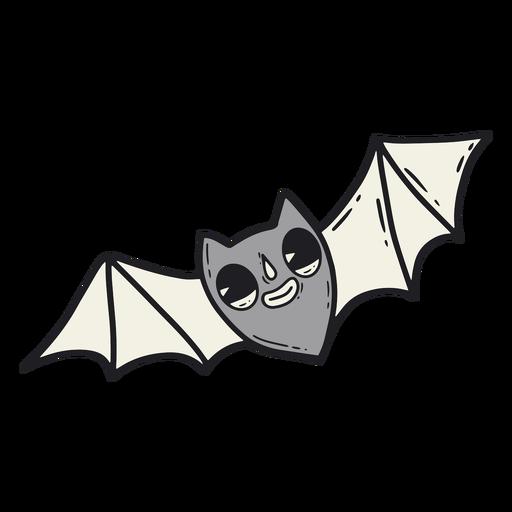 Bat halloween retro cartoon