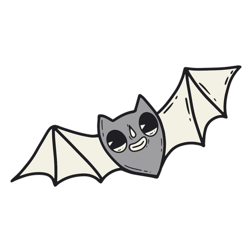 Dibujos animados retro de halloween murciélago