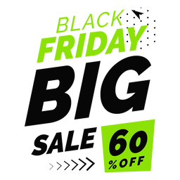 Black friday big sale off badge