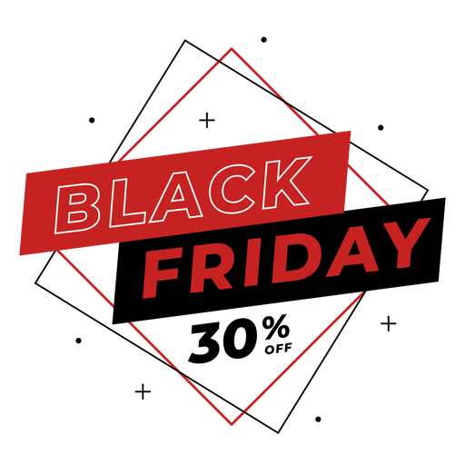 Insignia de descuento de viernes negro Transparent PNG
