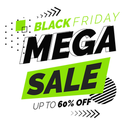 Black friday mega sale badge