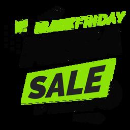 Schwarzer Freitag Mega Sale Abzeichen