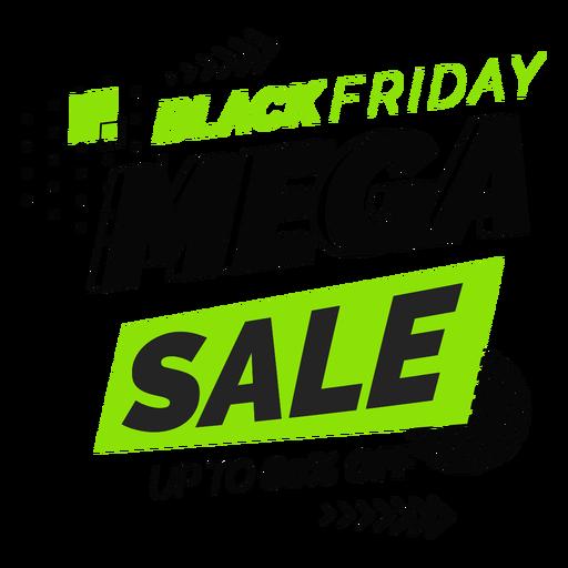 Black friday mega sale badge