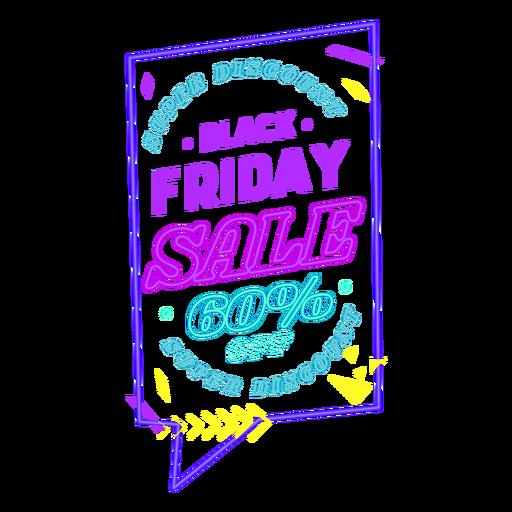 Black friday neon sale badge