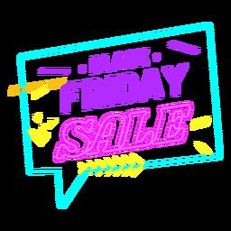 Insignia de neón de venta de viernes negro