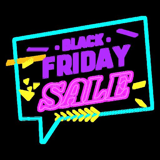 Black friday off sale neon badge