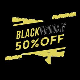 Emblema da promoção Black Friday
