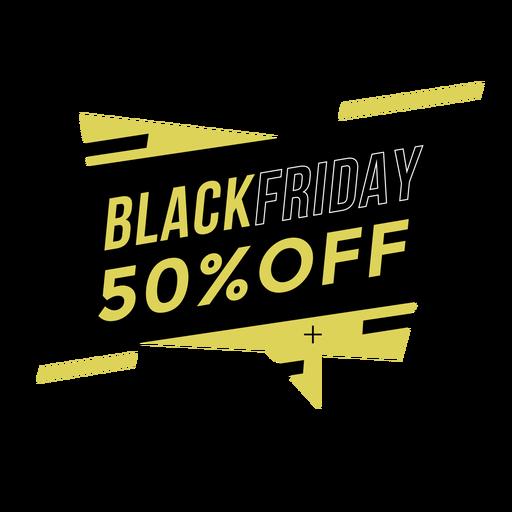 Insignia promocional del viernes negro Transparent PNG