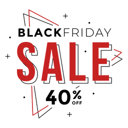 Black friday sale badge neon
