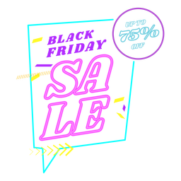 Black friday sale neon badge