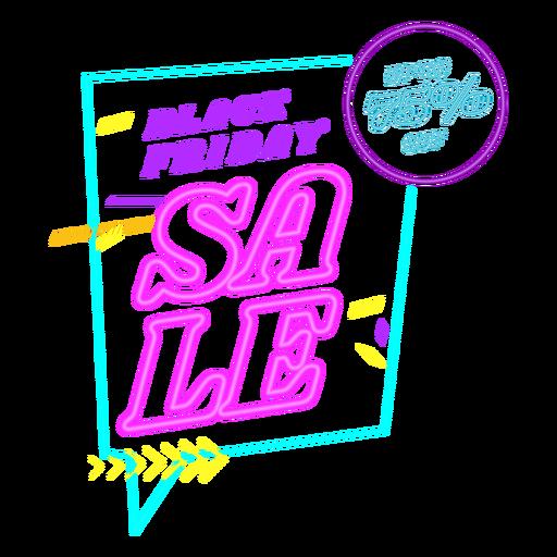 Black friday sale neon badge
