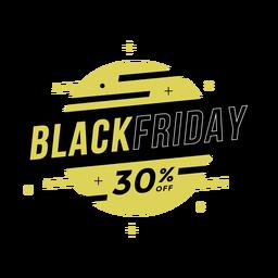 Crachá de liquidação na Black Friday