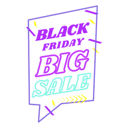 Black friday sale off neon badge